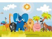 Vliesová fototapeta Dimex Zvířátka v Africe XL-269   330x220 cm Fototapety pro děti