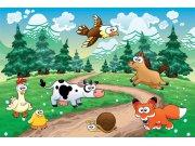 Vliesová fototapeta Dimex Zvířátka v lese XL-264   330x220 cm Fototapety pro děti