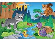 Vliesová fototapeta Dimex Lesní zvířátka XL-272   330x220 cm Fototapety pro děti