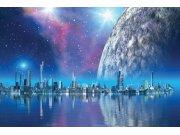 Vliesová fototapeta Dimex Město budoucnosti XL-154 | 330x220 cm Fototapety vliesové