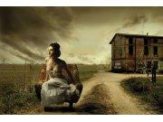 Vliesová fototapeta Dimex Dívka v křesle XL-221 | 330x220 cm Fototapety vliesové