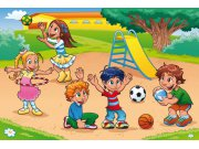 Vliesová fototapeta Dimex Děti na hřišti XL-270 | 330x220 cm Fototapety pro děti