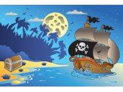 Vliesová fototapeta Dimex Pirátská loď XL-266 | 330x220 cm Fototapety pro děti