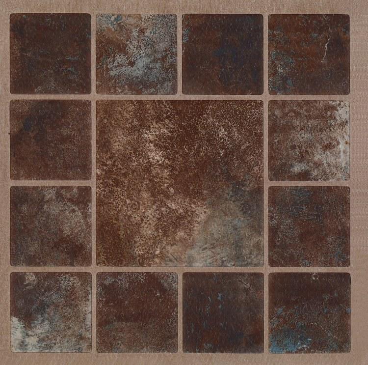 Samolepicí podlahové pvc čtverce hnědý mramor se vzorem - Samolepící dlažba