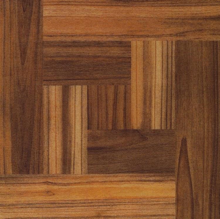 Samolepicí pvc dlažba tmavé dřevo v parketách - Samolepící dlažba