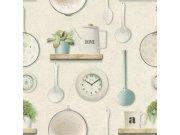 Omyvatelná vinylová tapeta kuchyňský vzor Tiles More 307108 | lepidlo zdarma Tapety Rasch - Tapety Aldora