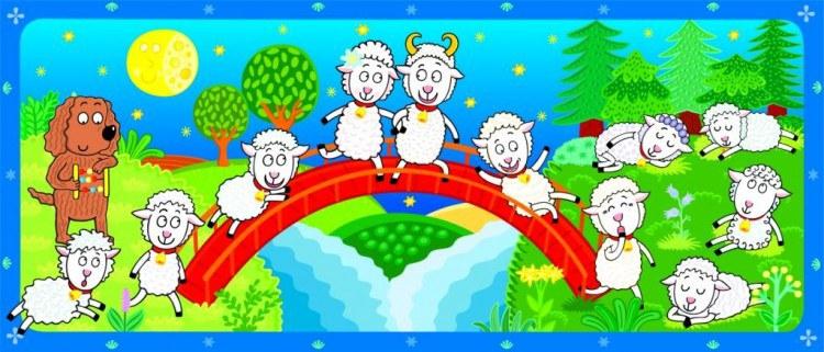 Fototapeta AG Ovečky FTV-0527 | 90x202 cm - Fototapety na zeď