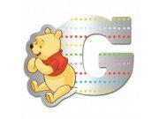 Dekorace písmena Medvídek Pú 007G, 9x7 cm Dětské dekorace na zeď
