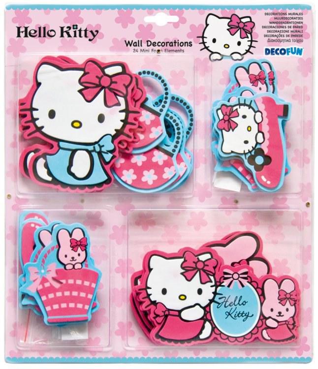 Dekorace Hello Kitty D23860, 24 ks - Dětské dekorace na zeď
