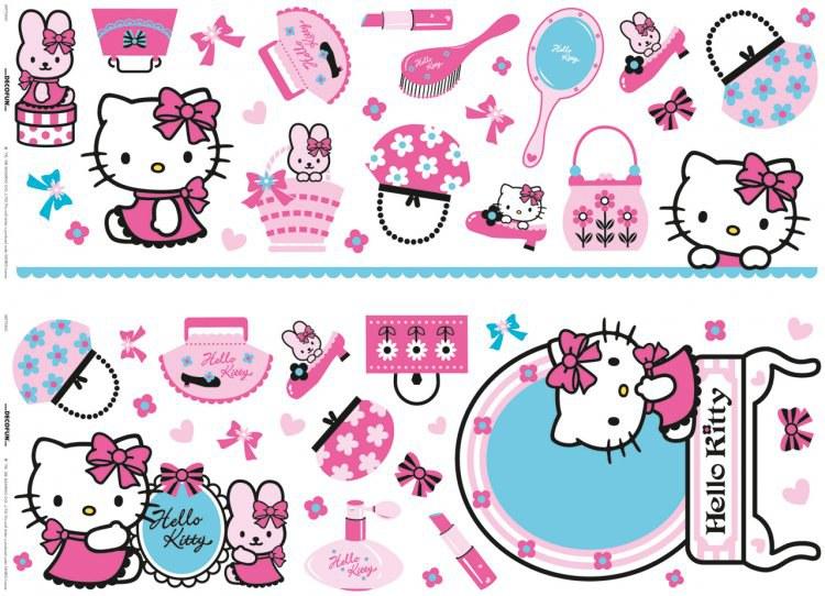 Samolepicí dekorace Hello Kitty D41060, 70x50 cm - Dětské samolepky na zeď