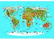 Fototapeta AG Mapa Světa FTNS-2441 | 360x270 cm Fototapety pro děti