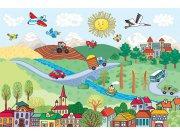 Fototapeta AG Vesnice FTNXXL-2483 | 360x270 cm Fototapety pro děti