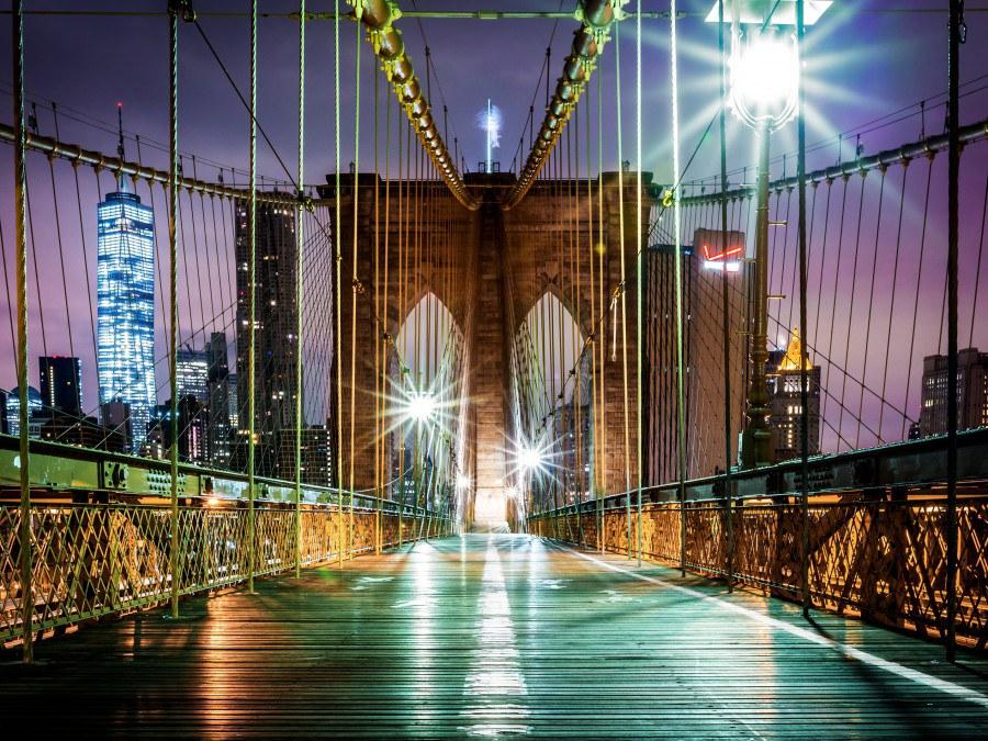 Fototapeta AG Brooklyn Bridge FTNXXL-2439 | 360x270 cm - Fototapety vliesové