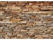 Vliesová fototapeta Hnědá kamenná zeď FTNS-2481, rozměry 360 x 270 cm Fototapety vliesové - Vliesové fototapety AG
