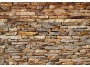 Fototapeta AG Hnědá kamenná zeď FTNS-2481 | 360x270 cm Fototapety vliesové - Vliesové fototapety AG