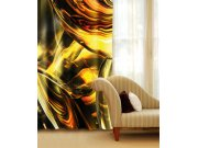 Závěs Zlatý abstrakt CU-140-025, 140x245 cm Závěsy