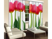 Závěs Červené Tulipány CU-280-015, 280x245 cm Závěsy