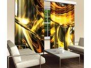 Závěs Zlatá Abstrakce CU-280-025, 280x245 cm Závěsy