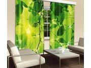 Závěs Zelené listí CU-280-014, 280x245 cm Závěsy