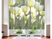 Záclona White Tulips VO-140-012, 140x120 cm Záclony