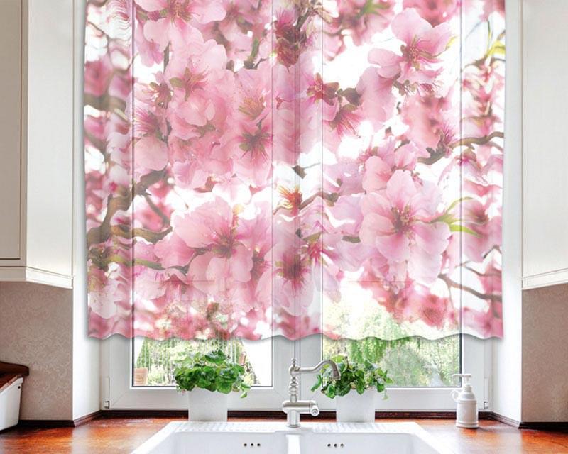 Záclona Apple Blossom VO-140-015, 140x120 cm - Záclony