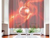 Záclona Red Abstract VO-140-027, 140x120 cm Záclony