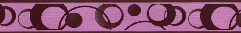 Samolepící bordura Fialová kolečka SB02-335, rozměry 5 cm x 10 m - Samolepící bordury
