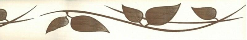 Samolepící bordura Hnědé listy SB02-408, rozměry 5 cm x 10 m - Samolepící bordury