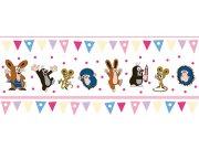 Dětská vliesová bordura Krtek růžová 6120002   23,5 cm x 3 m Dětské tapety - Tapety Krteček