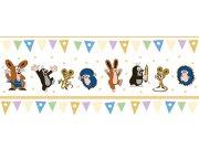 Dětská vliesová bordura Krtek béžová 6120004 | 23,5 cm x 3 m Dětské tapety - Tapety Krteček
