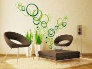 Samolepící dekorace na zeď Zelené kruhy ST1-021 Samolepící dekorace na zeď