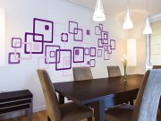 Samolepící dekorace na zeď Fialové čtverce ST1-022 Samolepící dekorace na zeď
