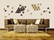 Samolepící dekorace na zeď Trojúhelníky ST1-023 Samolepící dekorace na zeď