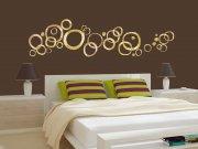 Samolepící dekorace na zeď Zlaté kruhy ST1-024 Samolepící dekorace na zeď