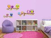 Samolepící dekorace na zeď Sovičky ST1-029 Dětské samolepky na zeď