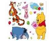 Samolepicí dekorace Medvídek Pú a kamarádi DKS-1087, 30x30 cm Dětské samolepky na zeď
