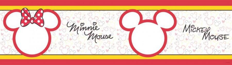 Samolepicí bordura Mickey Mouse Cute WBD8068 - Dětské samolepicí bordury