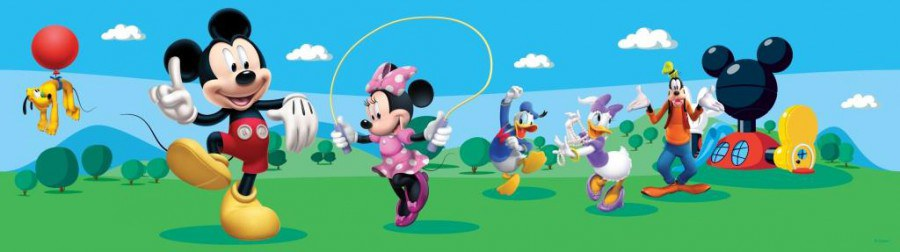 Samolepicí bordura Mickey Mouse Club House WBD8079 - Dětské samolepicí bordury