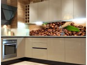 Samolepicí fototapeta do kuchyně Coffee KI-180-006, 180x60 cm Samolepící fototapety - Na kuchyňskou linku