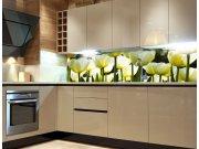 Fototapeta do kuchyně Bílé tulipány KI-260-009, 260x60 cm Fototapety skladem