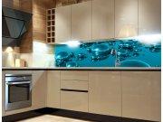 Fototapeta do kuchyně Kapky vody KI-260-019, 260x60 cm Samolepící fototapety