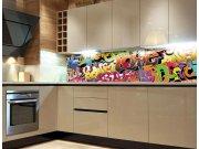 Fototapeta do kuchyně Graffiti KI-260-020, 260x60 cm Samolepící fototapety