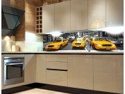 Fototapeta do kuchyně Žluté taxi KI-260-041, 260x60 cm Samolepící fototapety
