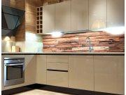 Samolepicí fototapeta do kuchyně Wooden Wall KI-180-063, 180x60 cm Fototapety skladem