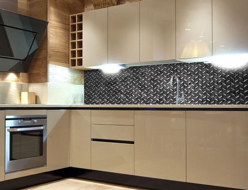 Fototapeta do kuchyně Kovová plošina KI-260-068, 260x60 cm - Samolepící fototapety