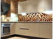 Fototapeta do kuchyně Leopardí kůže KI-260-069, 260x60 cm Samolepící fototapety