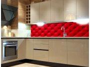 Fototapeta do kuchyně Červený potah KI-260-070, 260x60 cm Samolepící fototapety