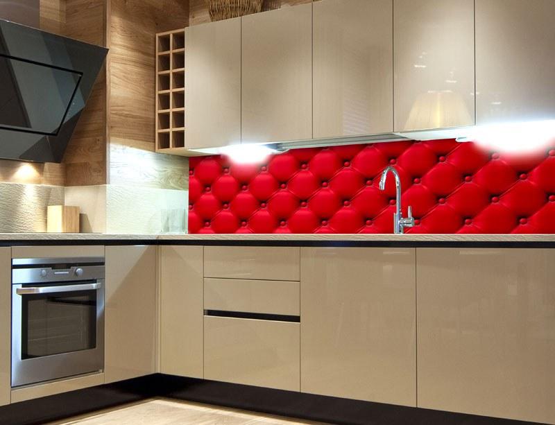 Fototapeta do kuchyně Červený potah KI-260-070, 260x60 cm - Samolepící fototapety