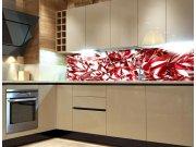 Fototapeta do kuchyně Červený krystal KI-260-071, 260x60 cm Samolepící fototapety