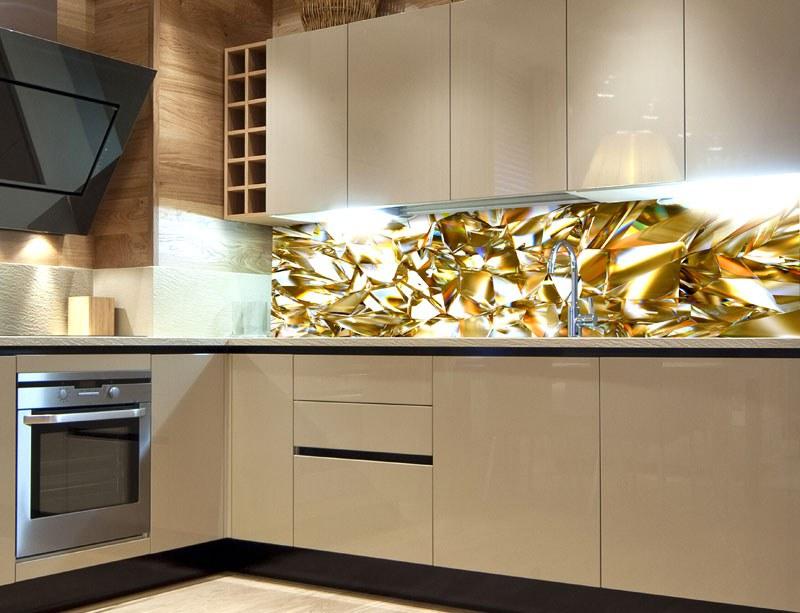 Fototapeta do kuchyně Zlatý krystal KI-260-072, 260x60 cm - Samolepící fototapety